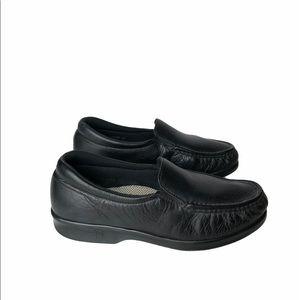 SAS Black Twin Tripad Moc Slip On Loafers